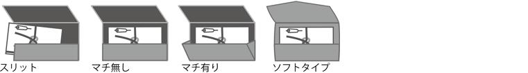 スリット/マチ無し/マチ有り/ソフトタイプ