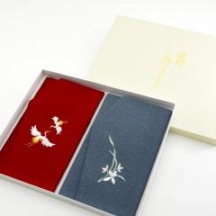 慶弔刺繍ふくさセット (夫婦鶴)